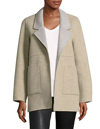 Eileen Fisher Brushed Wool-Blend Double-Faced Jacket-BEIGE-Medium
