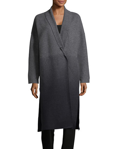 Eileen Fisher Ombre Wool Coat-ASH/CHARCOAL-Small