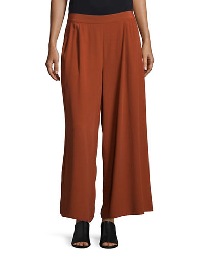Eileen Fisher Wide-Leg Pants-PARKA-Large