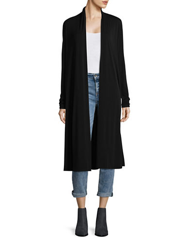 Eileen Fisher Knit Duster Cardigan-BLACK-X-Large