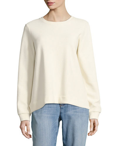 Eileen Fisher Long-Sleeved Pullover-NATURAL-X-Small