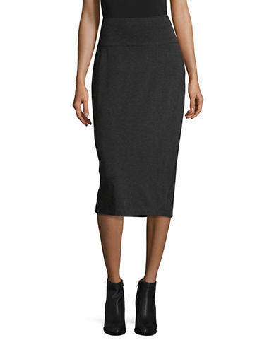 Eileen Fisher Stretch Foldover Skirt-GREY-X-Small