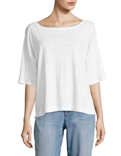 Eileen Fisher Organic Linen Jersey Tee-WHITE-Small 89293813_WHITE_Small