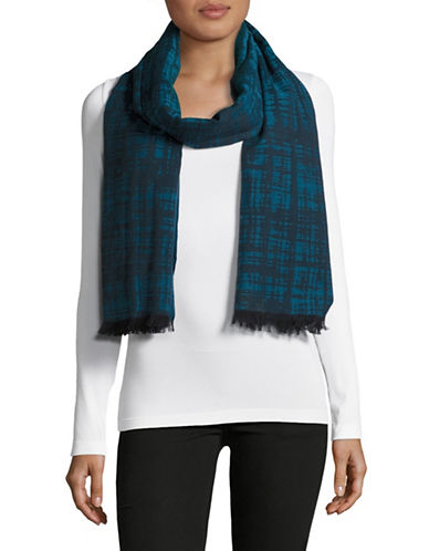 Eileen Fisher Organic Cotton Printed Scarf-NILE-One Size