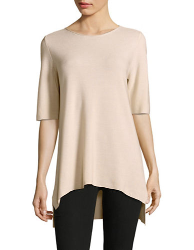 Eileen Fisher Knit Top-BONE-Small