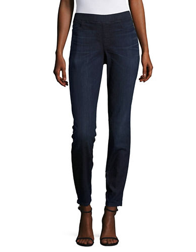 Eileen Fisher Organic Cotton Jeggings-UTILITY BLUE-Large