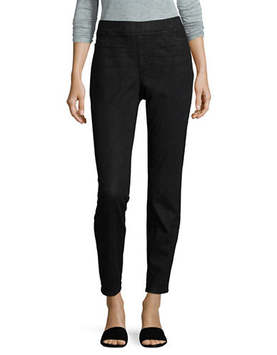 Eileen Fisher Organic Cotton Jeggings-BLACK-X-Small