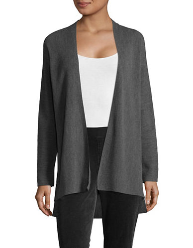 Eileen Fisher Flowing Wool Cardigan-ASH-Large