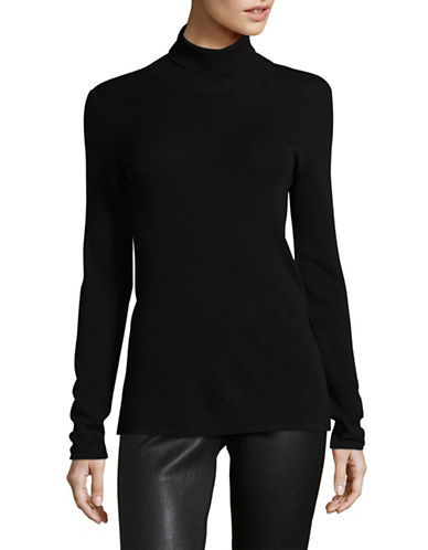 Eileen Fisher Merino Wool Turtleneck Sweater-BLACK-X-Small