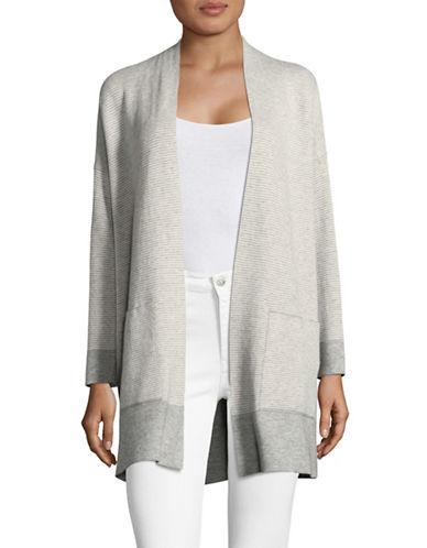Eileen Fisher Bracelet Sleeve Cardigan-DARK PEARL-X-Large