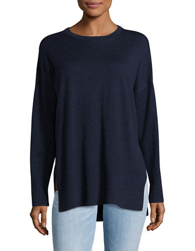 Eileen Fisher Crew Neck Boxy Sweater-MIDNIGHT-Medium