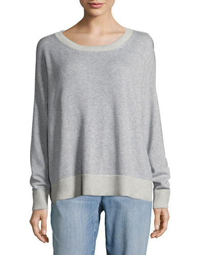 Eileen Fisher Boat Neck Knit Pullover-DARK PEARL-X-Large
