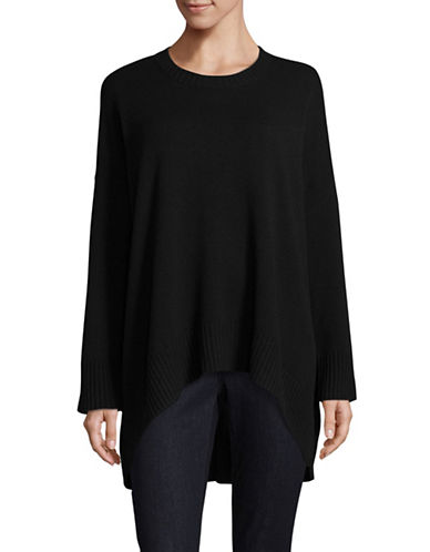 Eileen Fisher Oversized Cashmere-Wool Sweater-BLACK-Medium/Large