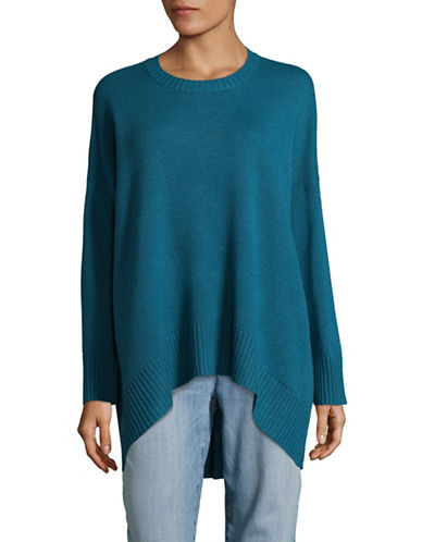 Eileen Fisher Oversized Cashmere-Wool Sweater-NILE-Large/X-Large