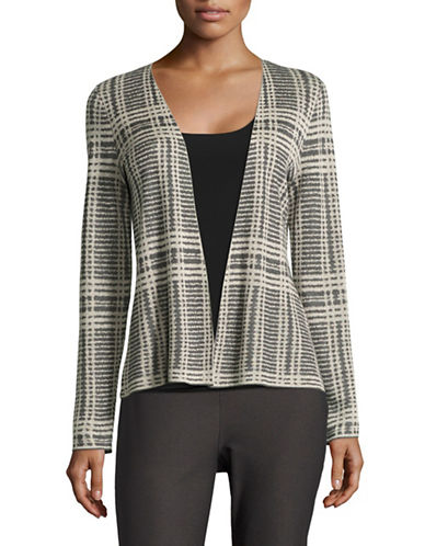 Eileen Fisher Merino-Wool Blend Knit Cardigan-ASH-X-Large