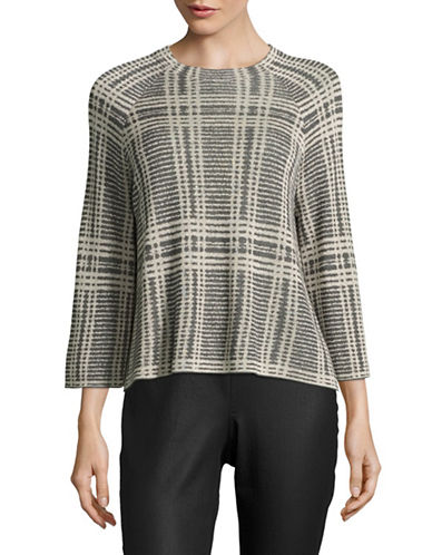 Eileen Fisher Merino-Wool Blend Wide-Sleeved Sweater-ASH-Large