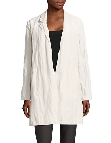 Eileen Fisher Rumpled Organic Cotton Jacket-BONE-Small