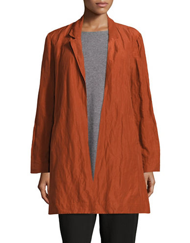 Eileen Fisher Rumpled Organic Cotton Jacket-PARKA-Small