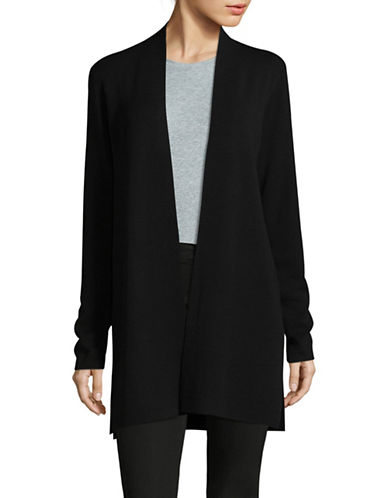 Eileen Fisher Deluxe Merino Wool Cardigan-BLACK-X-Small 89548625_BLACK_X-Small