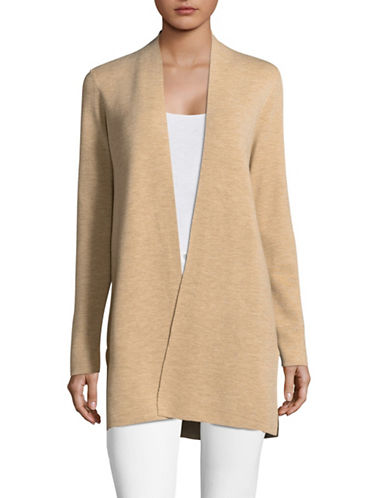 Eileen Fisher Deluxe Merino Wool Cardigan-MAPLE OAT-X-Small
