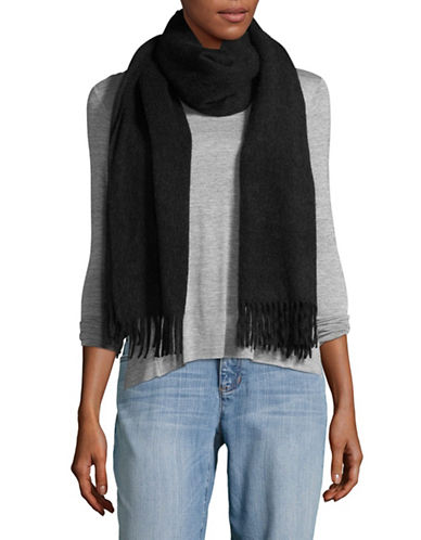 Eileen Fisher Luxe Melange Cashmere Scarf-GREY-One Size