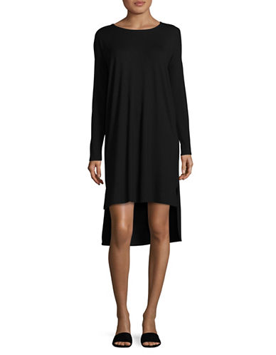 Eileen Fisher Lightweight Jersey Dress-BLACK-Medium