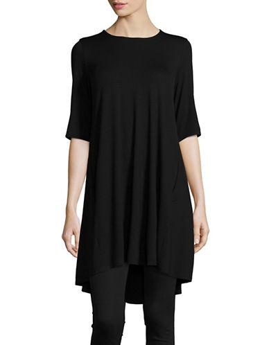 Eileen Fisher Stretch Tunic-BLACK-X-Large