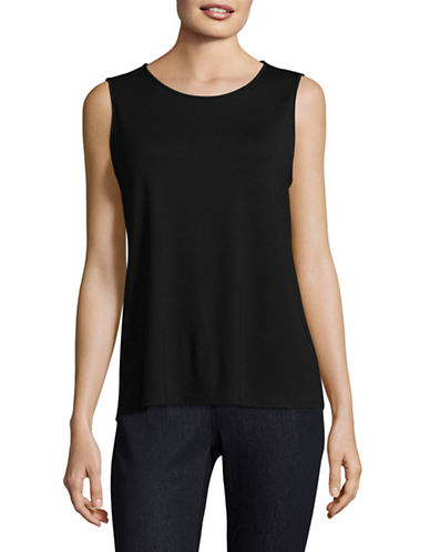 Eileen Fisher Classic Tank Top-BLACK-X-Large