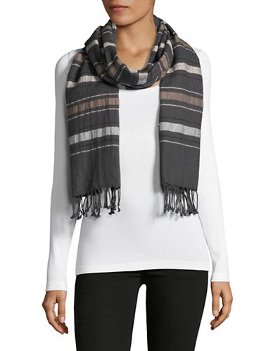 Eileen Fisher Organic Cotton-Wool Scarf-BARK-One Size