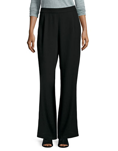 Eileen Fisher Straight-Leg Woven Pants-BLACK-X-Small