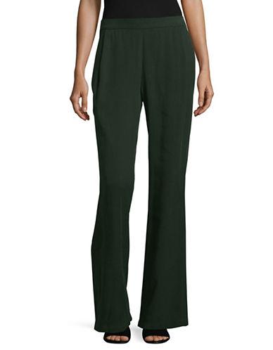Eileen Fisher Straight-Leg Woven Pants-PURPLE-Large
