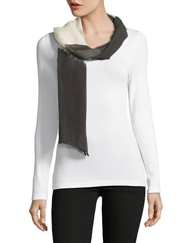 Eileen Fisher Silk Shibori Symmetry Scarf-BARK-One Size