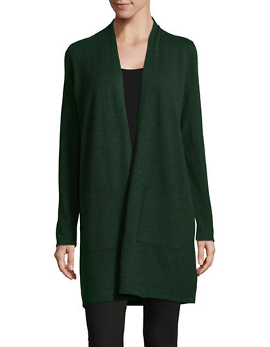Eileen Fisher Classic Long Cardigan-GREEN-Small
