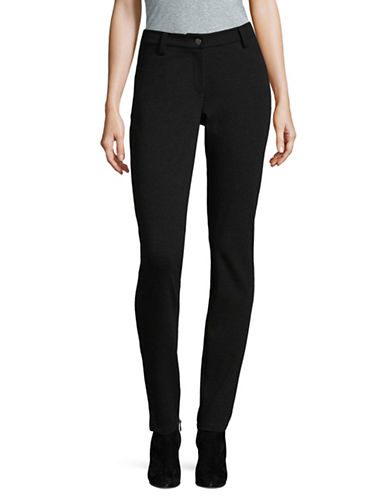 Eileen Fisher Stretch Ponte Skinny Pants-CHARCOAL-2