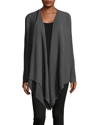 Eileen Fisher Ribbed Wool Cardigan-BARK-Large