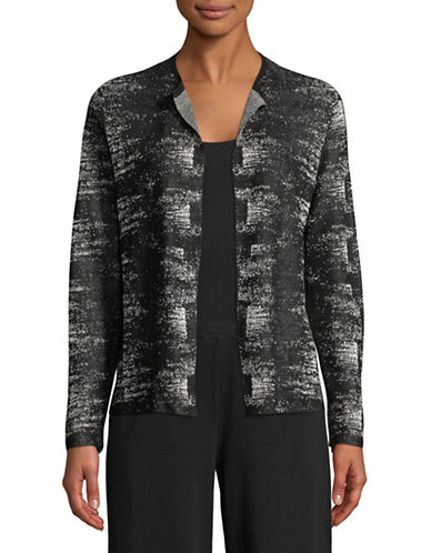 Eileen Fisher Knit Open Front Cardigan-BLACK-Small 89778284_BLACK_Small