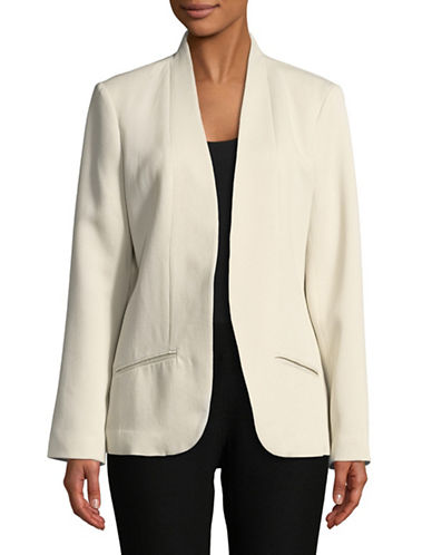 Eileen Fisher Corded Blazer-WHITE-Small