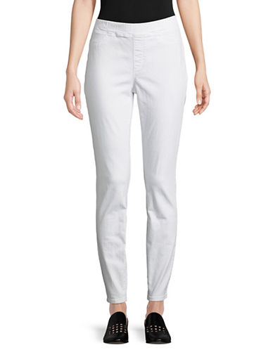Eileen Fisher Organic Cotton Jegging-WHITE-Large
