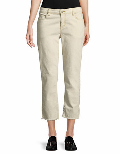 Eileen Fisher Organic Cotton Straight Jeans-BEIGE-8