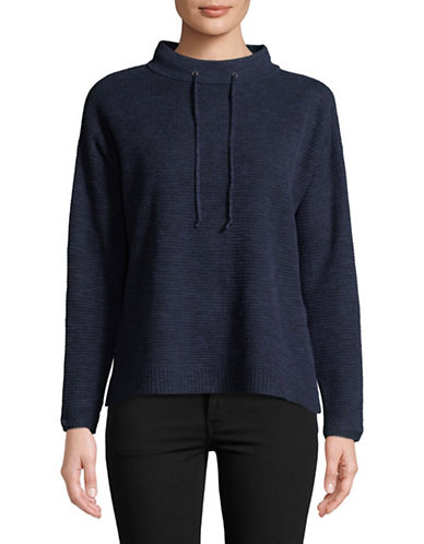 Eileen Fisher Premium Knit Pullover-NAVY-X-Small