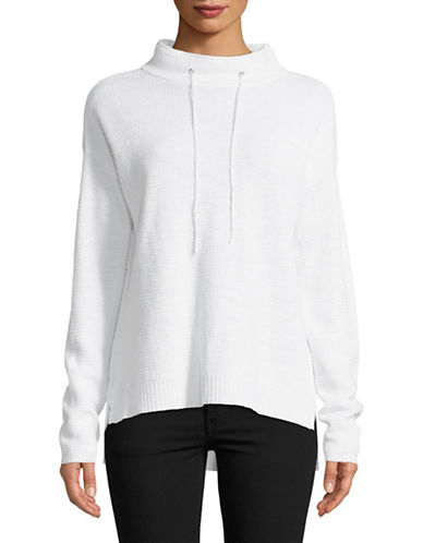 Eileen Fisher Premium Knit Pullover-WHITE-Large