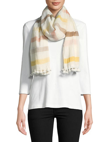 Eileen Fisher Handloomed Organic Cotton Scarf-MUSED-One Size