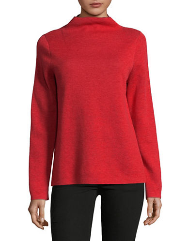 Eileen Fisher Alpaca Wool Funnel Neck Sweater-LAVA-X-Small