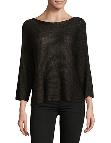 Eileen Fisher Linen Shimmer Top-BRONZE-Large