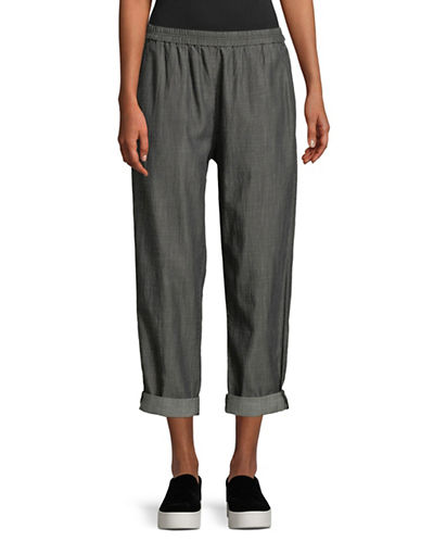 Eileen Fisher Tapered Ankle Pants-BLACK-Large 89778349_BLACK_Large