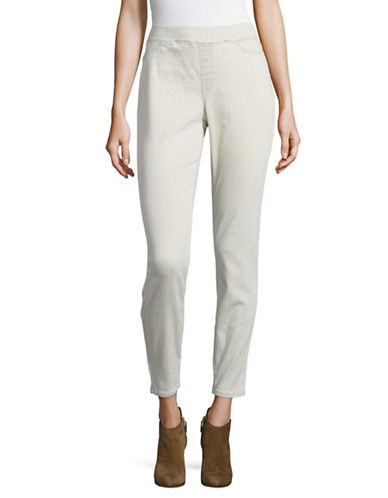 Eileen Fisher Soft Stretch Denim Jeggings-CEMENT-X-Small