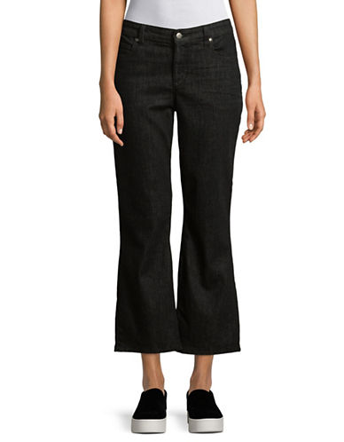 Eileen Fisher Flared Crop Jeans-BLACK-12