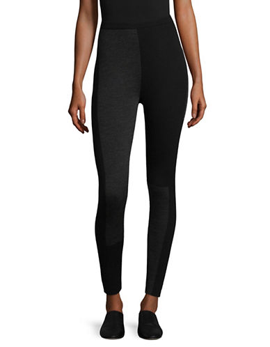 Eileen Fisher Merino Wool Stretch Leggings-BLACK-Small