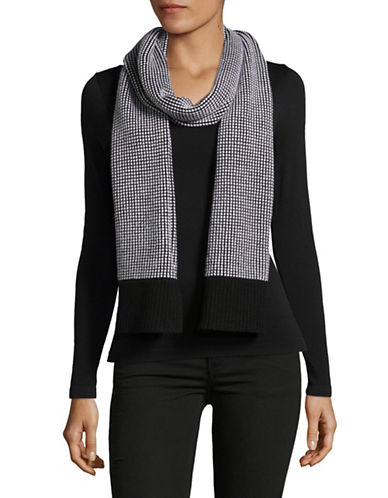 Eileen Fisher Merino Wool Waffle Stitch Scarf-GREY-One Size