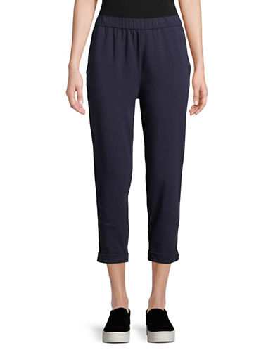 Eileen Fisher Organic Cotton Slouchy Crop Pant-MIDNIGHT-Large